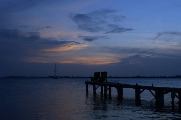 Sittin on the dock of the Caribbean